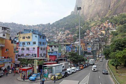 Favela da Rocinha, no Rio de Janeiro.