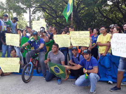 Mobilização pró intervenção militar em Recife