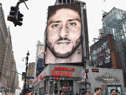 Anúncio da Nike protagonizado por Colin Kaepernick.