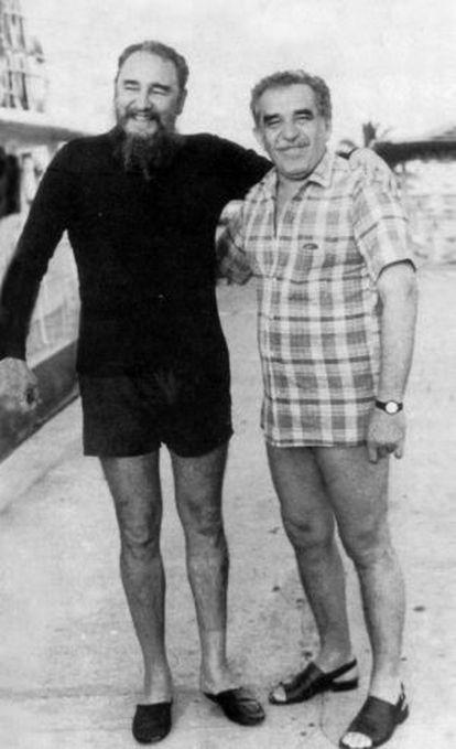 Fidel Castro e Gabriel García Márquez, 1985, capa do livro 'Gabo e Fidel. A paisagem de uma amizade', de Ángel Esteban e Stéphanie Panichelli.