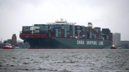 Navio de carga da companhia China Shipping Group