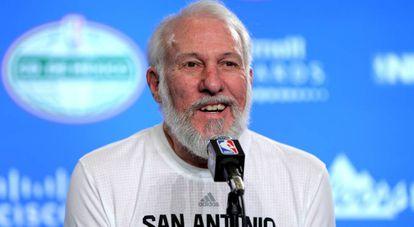Gregg Popovich, técnico dos Spurs.