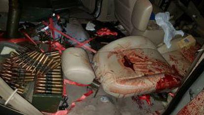 Imagem do veículo onde estava um dos atiradores que matou Rafaat.