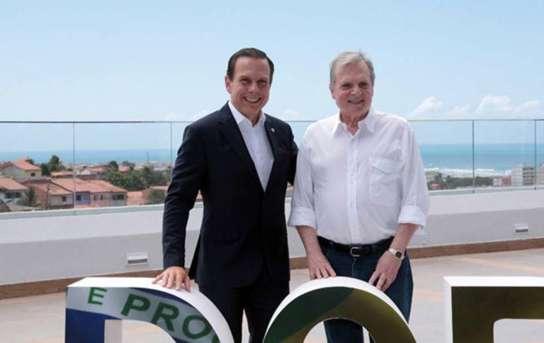 João Doria e Tasso Jereissati em Fortaleza.