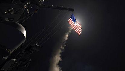 Míssil tomahawk que os EUA lançou na Síria.