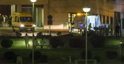 A auxiliar de enfermagem é levada ao hospital de Alcorcón.