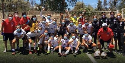 Equipe feminina do Colo Colo, em imagem de dezembro passado.