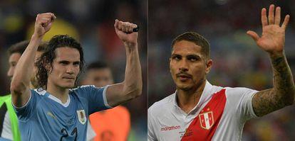 Cavani e Guerrero são os artilheiros de Uruguai e Peru na Copa América.