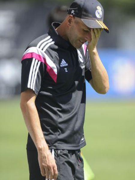 Zinédine Zidane, durante uma partida com o Castilla.