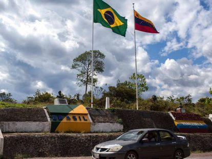 Fronteira do Brasil com a Venezuela, na cidade de Pacaraima (RR), em foto tirada em fevereiro de 2018