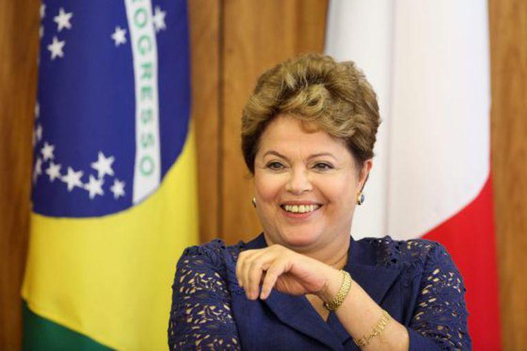 A presidenta brasileira Dilma Rousseff, em 12 de dezembro.