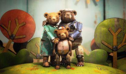 Uma imagem da curta-metragem animada 'A bear story'.