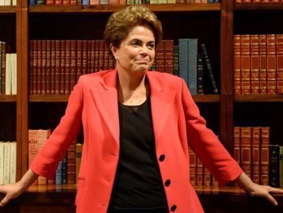 Dilma Rousseff, no Palácio da Alvorada.
