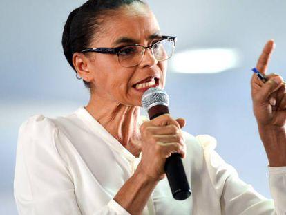 Marina Silva em Brasília.