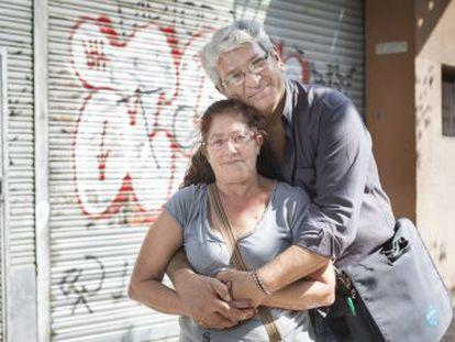 Héctor Luis López e María López, em Barcelona.