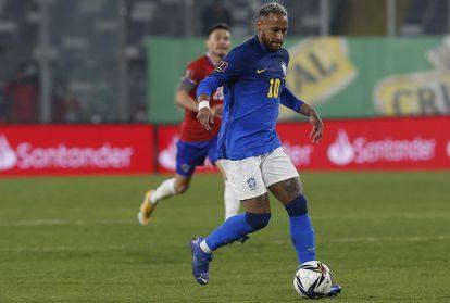 Neymar, na partida do Brasil contra o Chile.