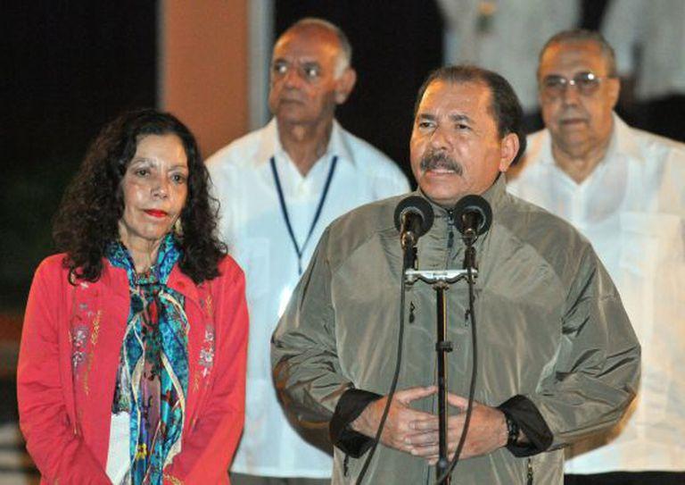 O presidente Daniel Ortega em Havana.