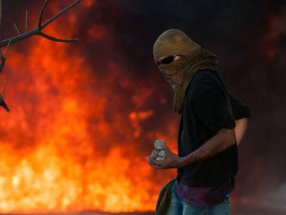 Manifestante em Brasília.