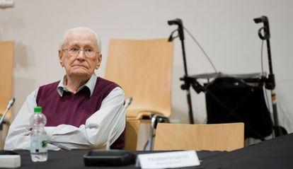 Oskar Gröning em seu julgamento.