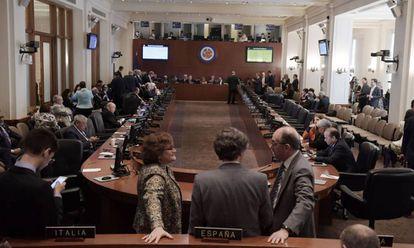 Reunião do Conselho Permanente da OEA nesta segunda-feira.