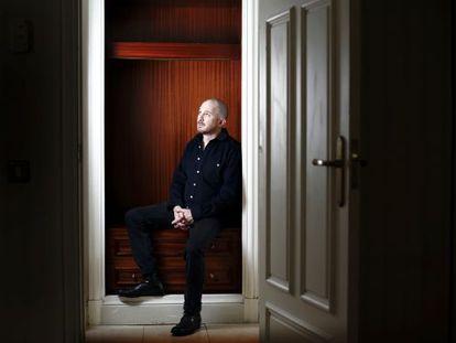 O cineasta Darren Aronofsky, retratado ontem em um hotel madrilenho.