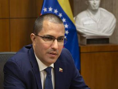 Jorge Arreaza, durante a entrevista.