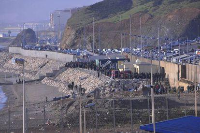 O incidente na fronteira de Ceuta.
