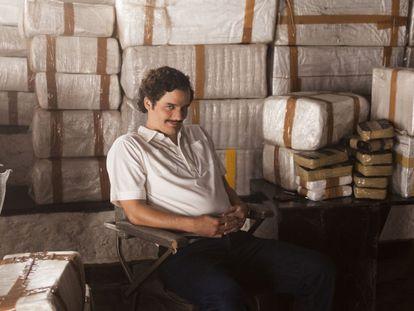 O ator Wagner Moura, no papel de Pablo Escobar na série 'Narcos'.