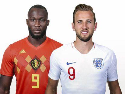 Lukaku e Harry Kane são as esperanças de gols para Bélgica e Inglaterra.