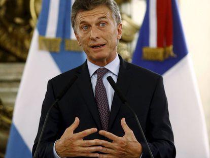 O presidente argentino Mauricio Macri na França