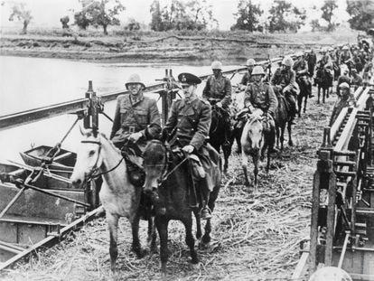 Tropas romenas durante a invasão da URSS, em setembro de 1941.