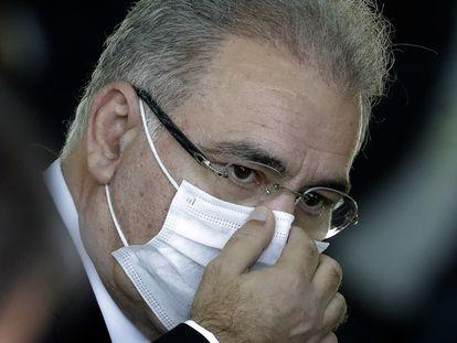 O ministro Marcelo Queiroga (Saúde), que é ouvido pela CPI da Covid no Senado nesta quinta-feira