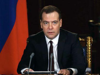 O primeiro-ministro russo, Dimitri Medvedev.