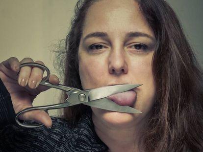 A artista Tania Bruguera, em Madri.