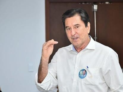 Maguito Vilela (MDB), eleito à Prefeitura de Goiânia durante ato de campanha em outubro.