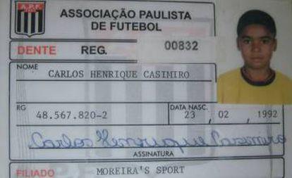 Carteirinha do Moreira's, primeiro clube