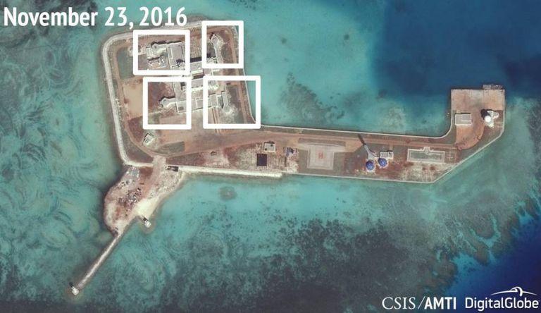 Fotos que mostram as instalações dos mísseis