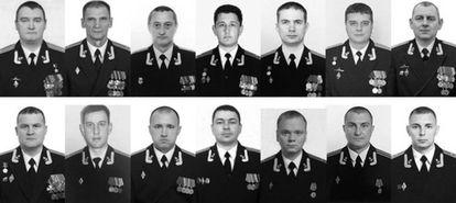 Os 14 militares mortos.