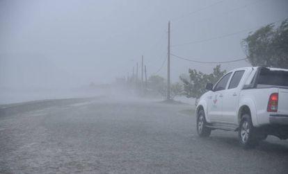A República Dominicana após a passagem do furacão Irma.
