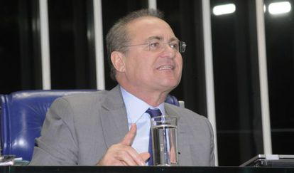 O presidente do Senado, Renan Calheiros, em agosto.