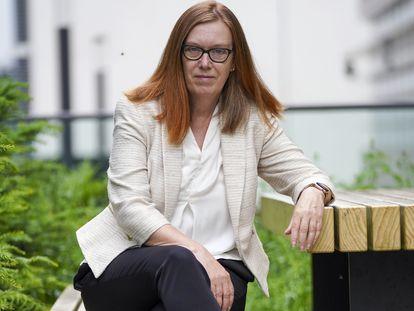 A professora Sarah Gilbert em uma foto de junho.