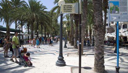A cidade de Alicante, na Espanha.