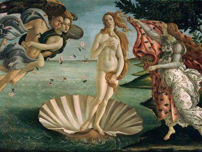 'O Nascimento de Vênus', de Boticcelli, mostra uma mulher com um índice de cintura-quadris de 0,724, perto do que se considera o ideal universal.
