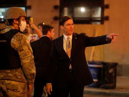 O secretário de Defesa dos EUA, Mark Esper, em Washington.