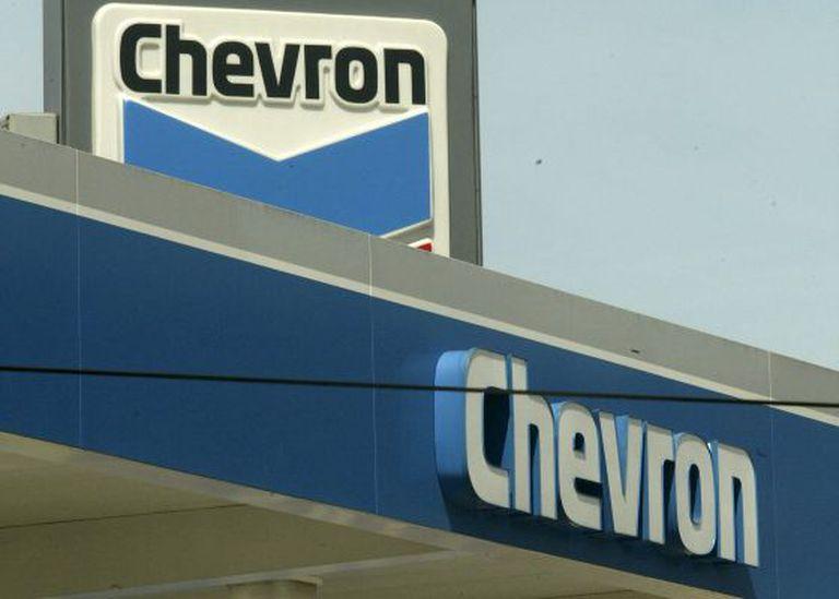 Logotipo da petroleira Chevron.