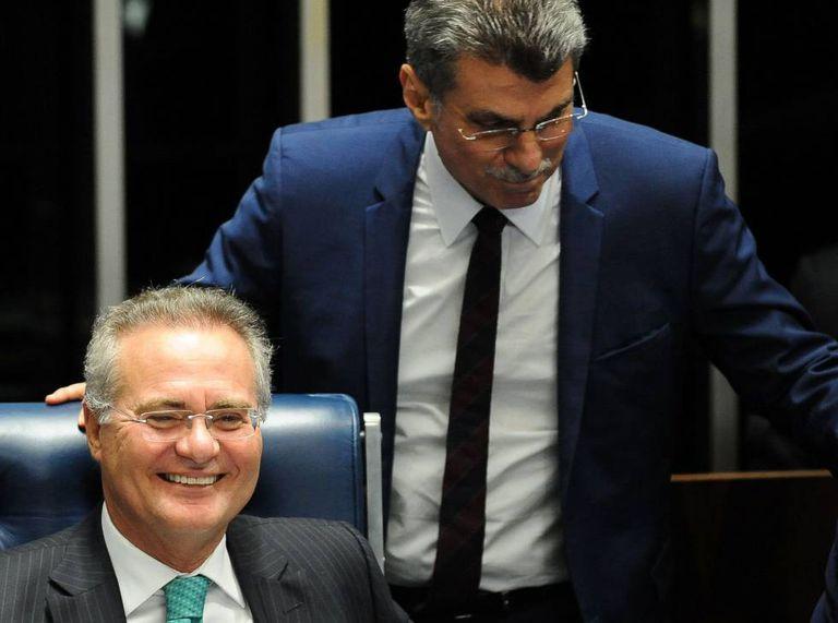 Renan e Jucá no Senado.