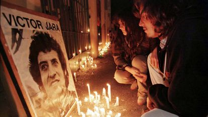 Homenagem a Víctor Jara em 1997.