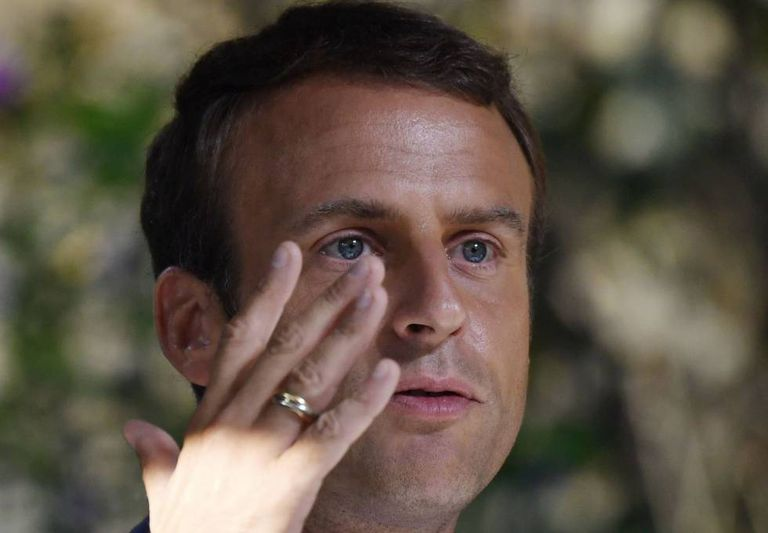 O presidente francês, Emmanuel Macron, em Bucareste.