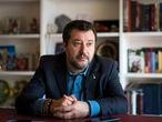 Roma, 03/03/2020 Entrevista a Matteo Salvini (La Liga), en su despacho en el Senado. Foto: Gianluca Battista