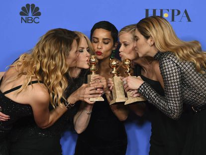 Laura Dern, Nicole Kidman, Zoe Kravitz, Reese Witherspoon e Shailene Woodley, as mulheres protagonistas de 'Big Little Lies'.